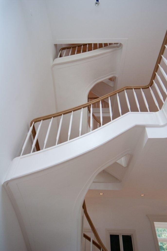 Luxe witte eiken trap