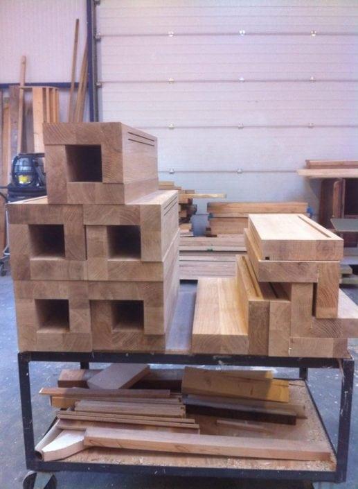 Onderdelen houten trap