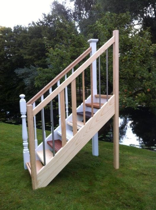 Model houten trap