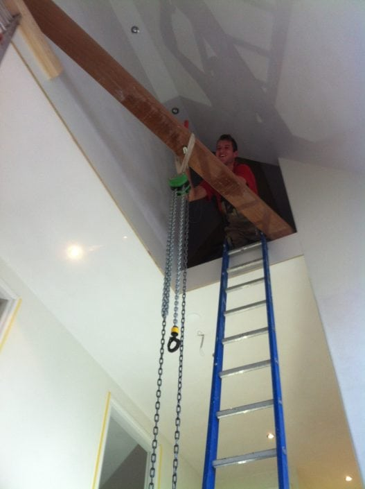 Installatie trap 2 verdiepingen