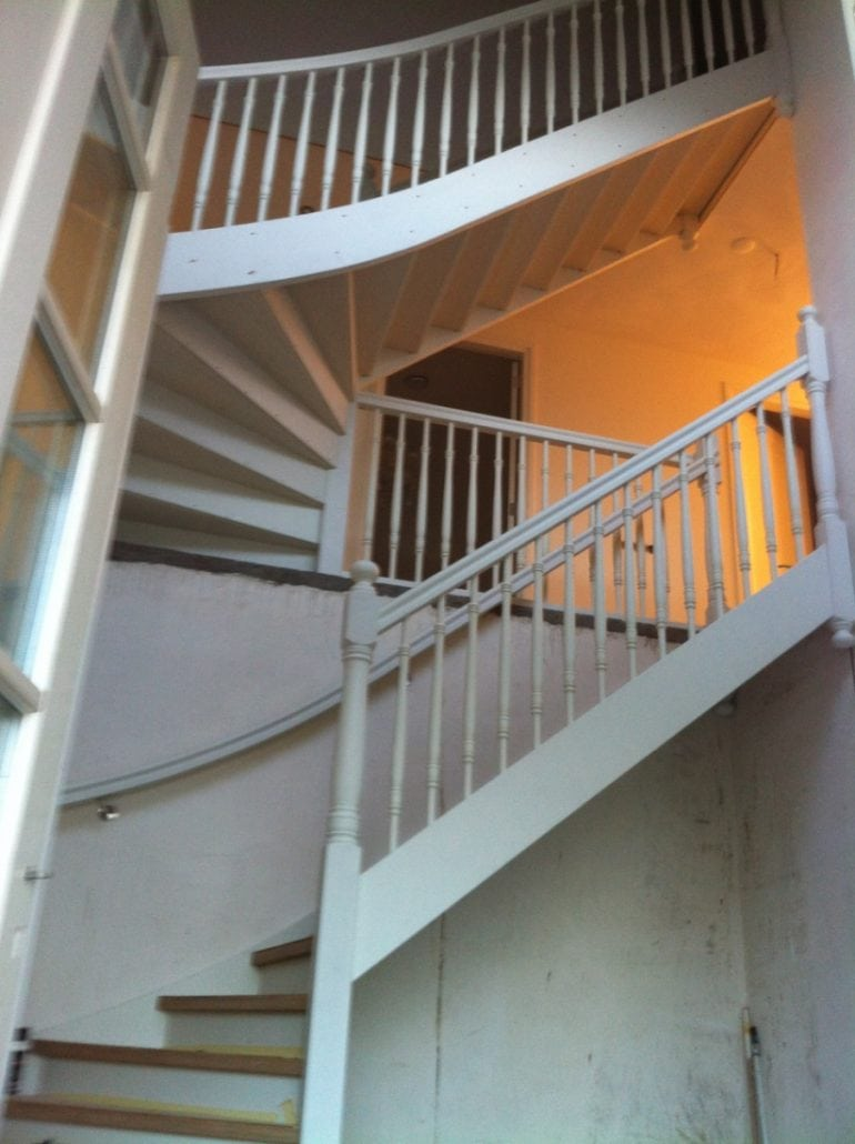 Blanco trap geïnstalleerd