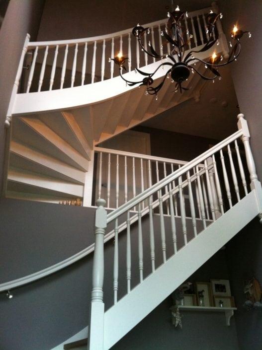Steekkwart trap voor 2 verdiepingen